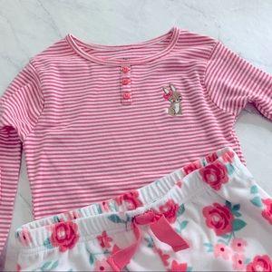 Carter's girl pajamas two piece size 7